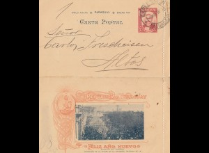 Paraguay 1901: nice letter Asuncion to Altos