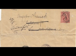 Paraguay 1899: wrapper to Cannstatt/Germany