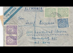 Paraguay 1952: air mail Asuncion to Landhut