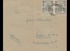 Paraguay 1936 letter to Dresden