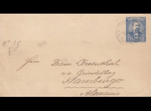 Paraguay 1896 letter U4 to Hamburg