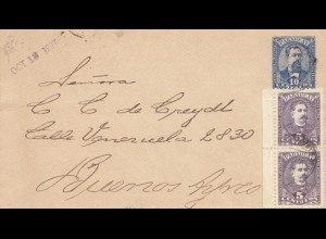 Paraguay 1897: letter Asuncion to Buenos Aires