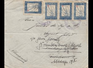 Paraguay letter to Freiburg, forwarded to Brandenburg
