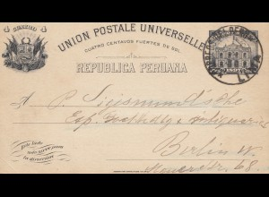 Peru 1906: post card Lima to Berlin