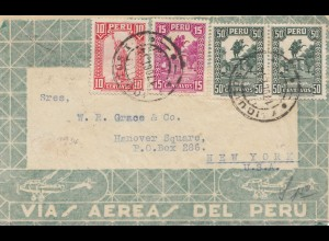 Peru 1934: letter to New York