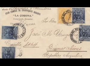 Peru 1896: Callao/Peru to Buenso Aires, fabrication de Cigarrillos Habanos