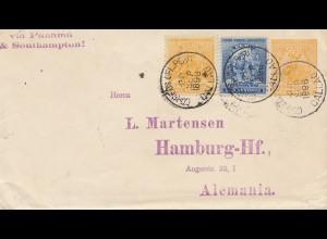 Peru 1896: Callao to Hamburg via Panama & Southampton