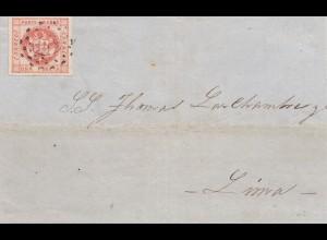 Peru 1859: letter Trujillo to Lima