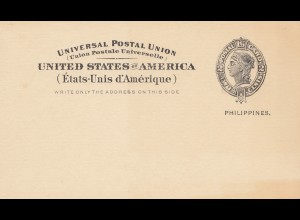 Philippines unused post card USA/Philippines