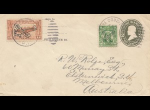 Philippines 1934: air mail to Australia/Melbourne
