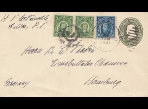 Philippines 1931: letter to Hamburg