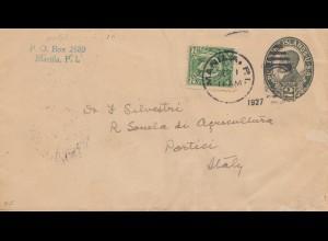 Philippines 1927: Manila to Portici/Italy