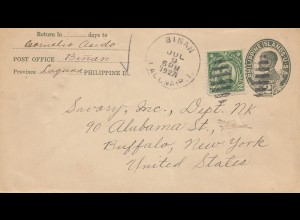 Philippines 1927: Binan to Buffalo/New York