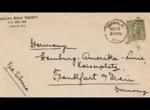 Philippines 1930: Manila to Frankfurt via Siberia