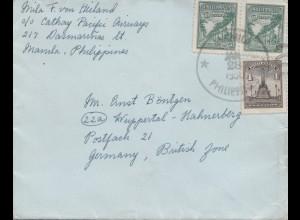 Philippines 1950: Manila to Wuppertal-Hahnesberg