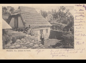 Madeira: 1901: post card to Herford