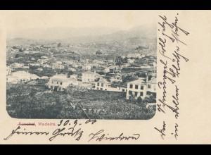 Madeira: 1900: post card Funchal to Omaruru/Deutsch Südwest Afrika DSWA
