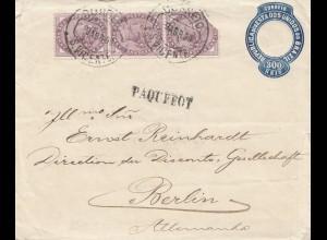 Brazil: Rio de Janeiro 1900 Paquebot to Berlin