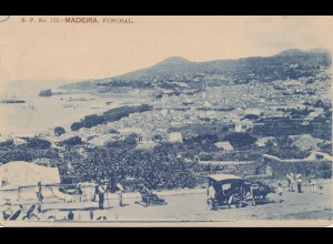 Madeira 1908: Funchal post card to Stuttgart
