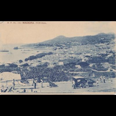 Madeira 1908: Funchal post card to Stuttgart