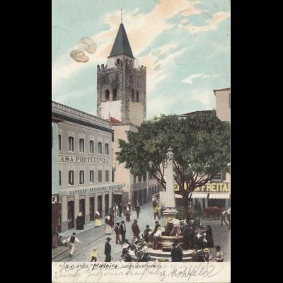 Madeira 1904: Funchal post card to Goslar