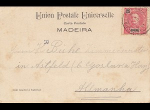 Madeira 1904: Funchal post card to Astfeld