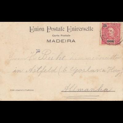 Madeira 1904: Funchal post card to Astfeld