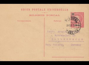 Madeira 1909: Funchal post card to Wittenberge