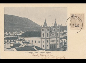 Acores 1905: post card Ilha Terceira to Magdeburg