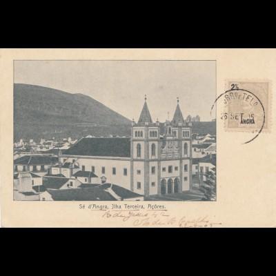 Acores 1905: post card Ilha Terceira to Magdeburg