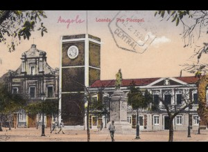 Angola 1928: post card Loanda to Seestadel