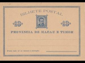 Bilhete Postal: Macau e Timor, unused card