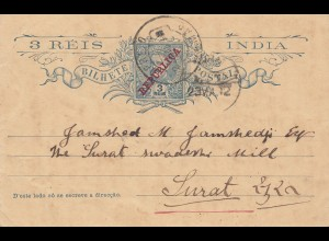 India: post card 1912 to Surat