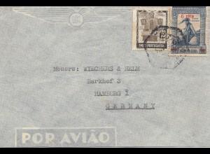 West India: Goa via air mail to Hamburg