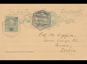 Mocambique 1909: post card Lourenco Marques to Genoa/Italy