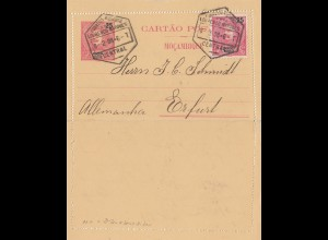 Mocambique 1908: post card Lourenco Marques to Erfurt
