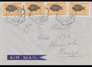 Mocambique 1952: Beira via air mail to Nairobi