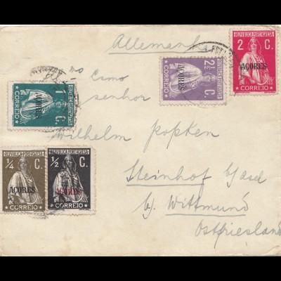 Acores: letter Horta to Steinhof