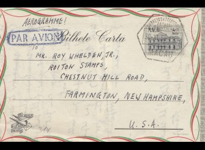 Macau e Timor, air mail Macau to Farmington/New Hampshire