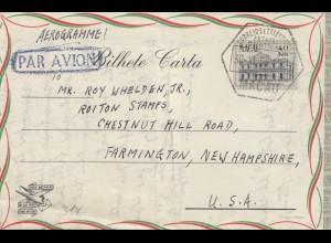 Macau e Timor, air mail Macau to Farmington/New Hampshire