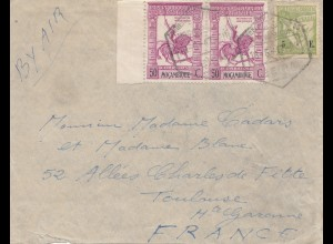 Mocambique 1947: air mail to Toulouse/France