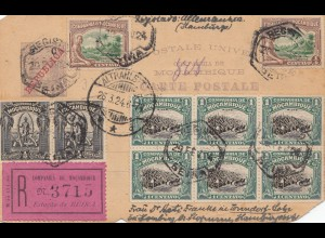 Mocambique 1924: post card registered to Hamburg-Tonndorf