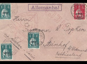 Acores: 1909: Horta to Steinhof b. Wittmund