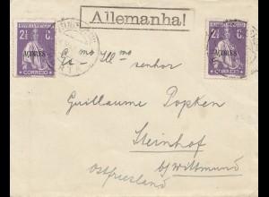 Acores: 1918: Horta to Steinhof b. Wittmund