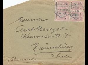 Mocambique 1928: letter Lourenco Marquesto to Naumburg
