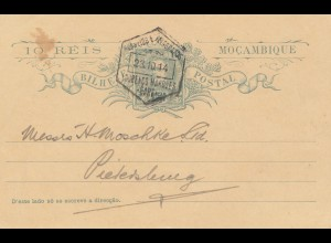 Mocambique 1914: post card Lourenco Marques to Petersburg