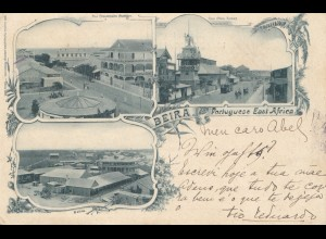Mocambique 1903: post card Beira to Mittweide/Sachsen