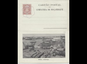 Mocambique unused post card Beira 1905, cancel