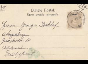 Acores post card Ilha Terceira 1904 to Magdeburg