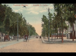 Mocambique 1912 post card Lourenco Marques Avenida D. Carlos to Bern/Switzerland